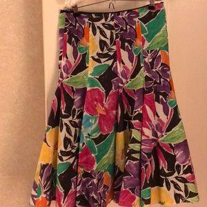 Ralph Lauren floral skirt size 12